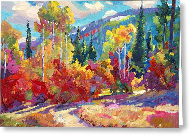 Recommended Paintings Greeting Cards - The Colors of New Hampshire Greeting Card by David Lloyd Glover