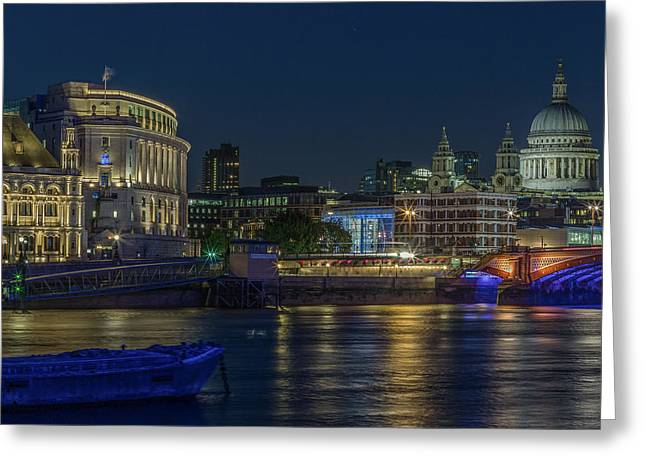 Europe Mixed Media Greeting Cards - The Colors of Night Greeting Card by Capt Gerry Hare