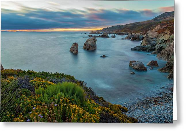 Big Sur Beach Greeting Cards - The Colors of Summer Greeting Card by Jonathan Nguyen