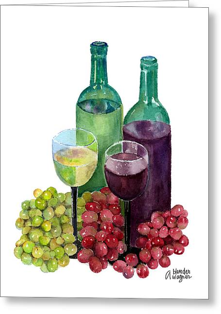 The Colors Of Wine Greeting Card by Arline Wagner