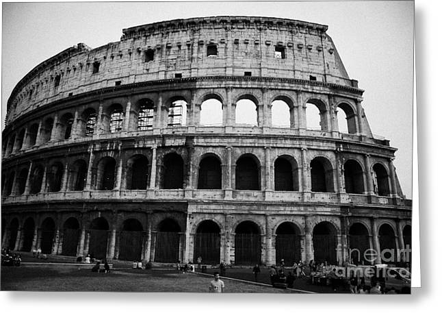 Rome Greeting Cards - The Colosseum at dusk Rome Lazio Italy Greeting Card by Joe Fox