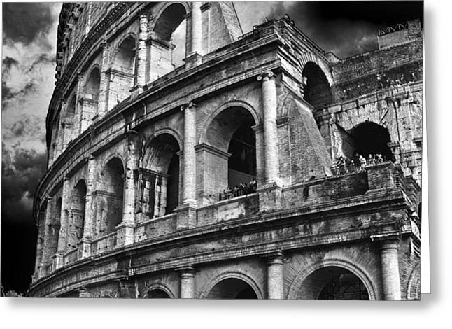 The Colosseum Rome Greeting Card by Darren Burroughs