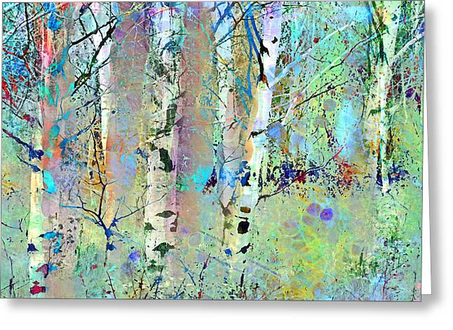 Distortion Greeting Cards - The Colouring Book in the Forest Greeting Card by Tara Turner