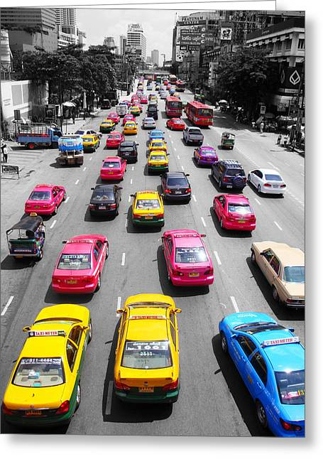 Bangkok Greeting Cards - The Colours Of Bangkok Greeting Card by Kelly Jones