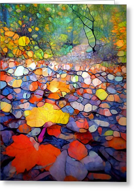 Forest Floor Digital Art Greeting Cards - The Colours of the Forest Floor Greeting Card by Tara Turner
