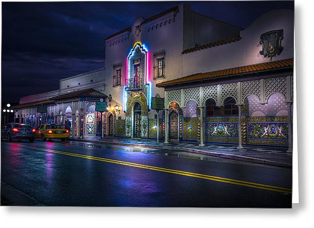 The Columbia Of Ybor Greeting Card by Marvin Spates