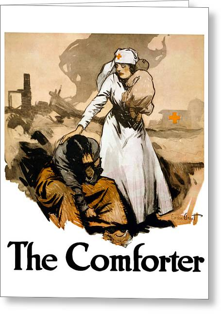 Ww1 Greeting Cards - The Comforter Greeting Card by War Is Hell Store