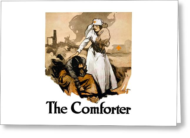 The Comforter Greeting Card by War Is Hell Store