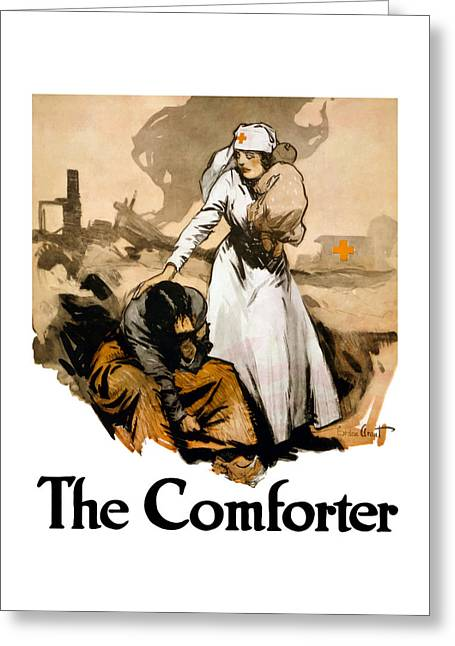 Red Cross Greeting Cards - The Comforter Greeting Card by War Is Hell Store