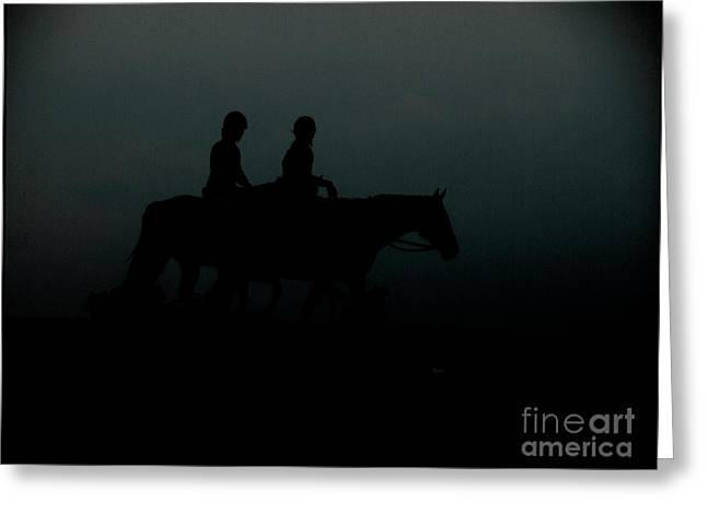 Horseback Riding Digital Greeting Cards - The Companions  Greeting Card by Steven  Digman