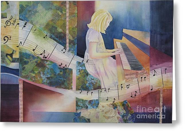 The Composition Greeting Card by Deborah Ronglien