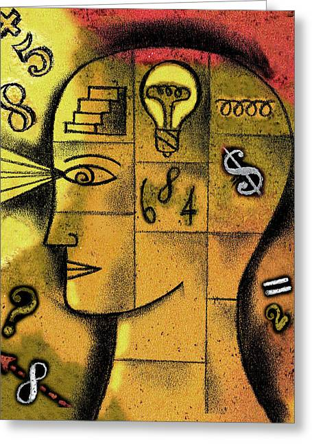 The Concept Of Solution Greeting Card by Leon Zernitsky