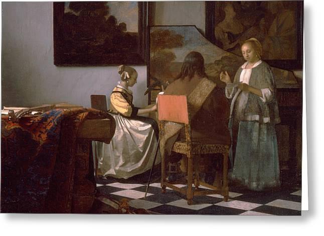 The Concert Greeting Card by Jan Vermeer