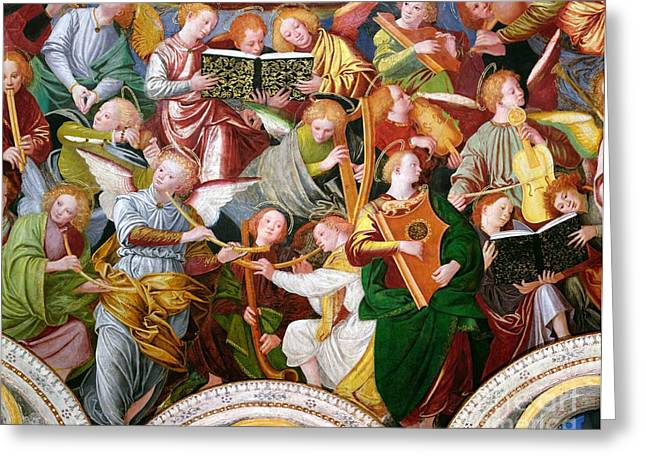 Religious Greeting Cards - The Concert of Angels Greeting Card by Gaudenzio Ferrari