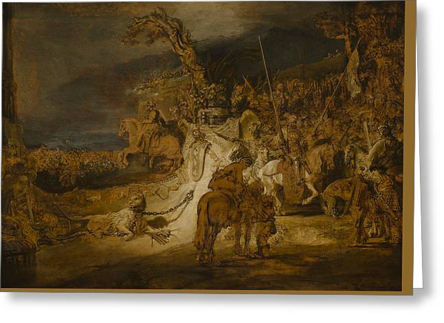 The Concord Of The State Greeting Card by Rembrandt