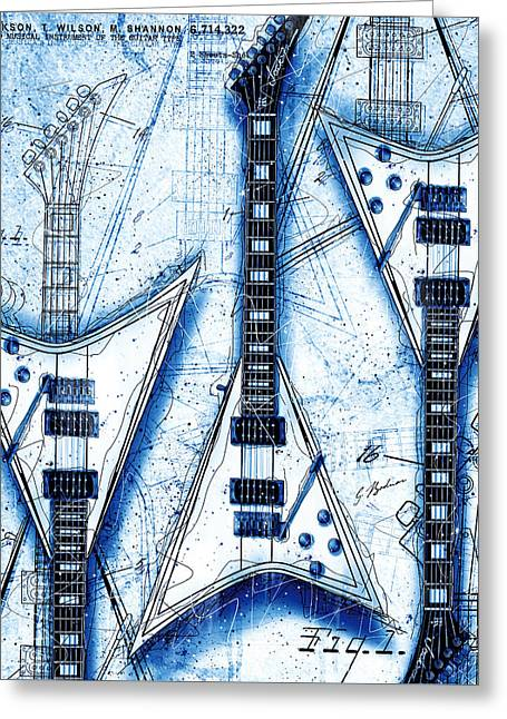 The Concorde Blueprint Greeting Card by Gary Bodnar