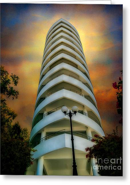 The Condominium Greeting Card by Adrian Evans