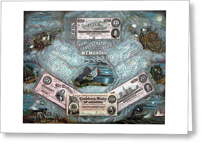 The Confederate Note Memorial  Greeting Card by War Is Hell Store