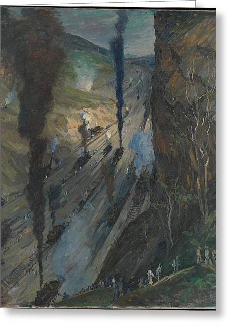 The Conquerors Greeting Card by Jonas Lie
