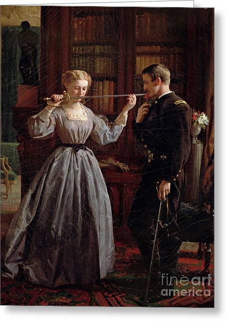 Couple Greeting Cards - The Consecration Greeting Card by George Cochran