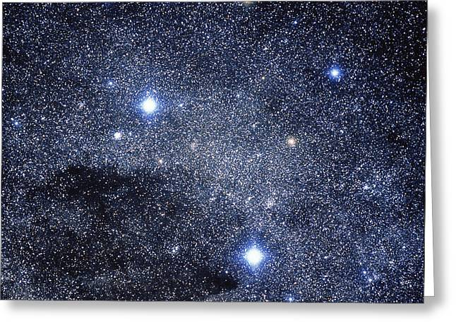 The Constellation Of The Southern Cross Greeting Card by Luke Dodd