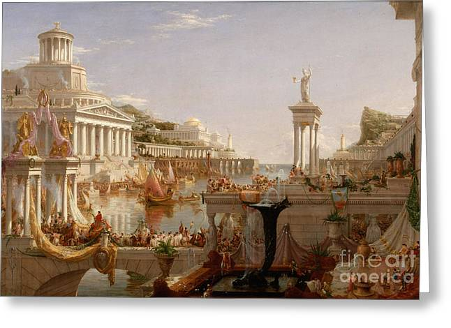 The Consummation The Course Of The Empire  Greeting Card by Celestial Images