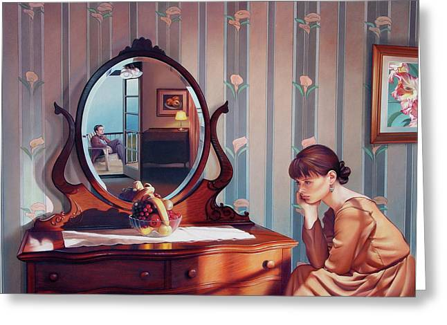Mirrors Greeting Cards - The Conversation Greeting Card by Patrick Anthony Pierson