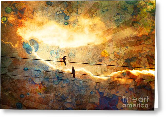 Powerline Greeting Cards - The Conversation Greeting Card by Tara Turner