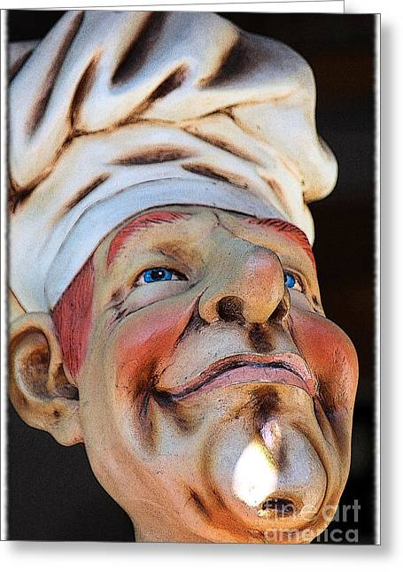 Statue Portrait Greeting Cards - The Cook Greeting Card by Sophie Vigneault