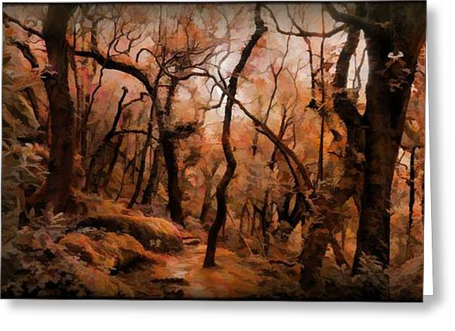 Mystic Art Greeting Cards - The Copper Forest Greeting Card by Daniel  Arrhakis