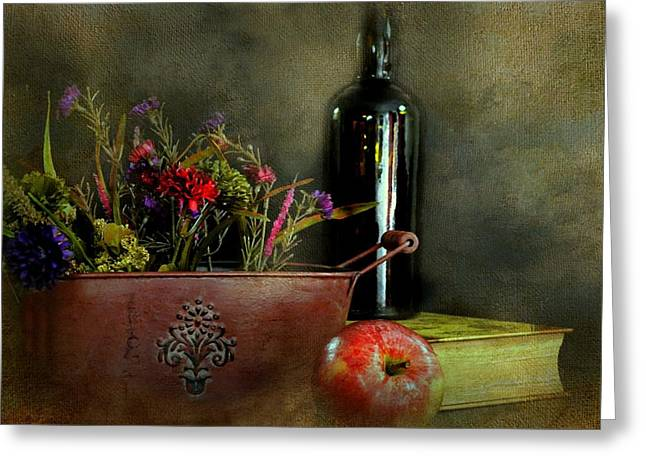 Table Wine Greeting Cards - The Copper Planter Greeting Card by Diana Angstadt