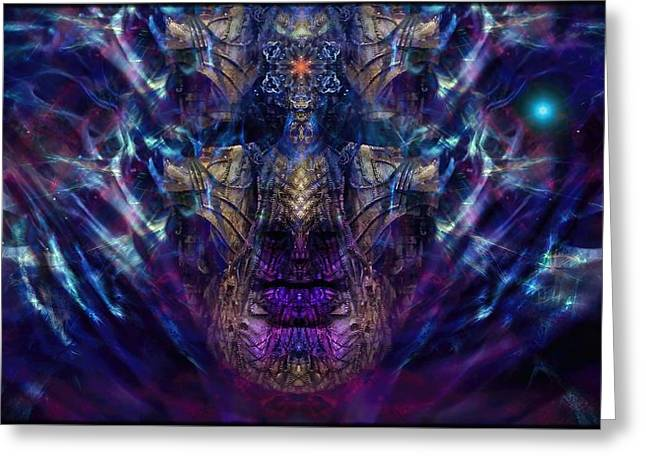 Mystic Art Greeting Cards - The  Coreoleans Mystery Greeting Card by Daniel  Arrhakis
