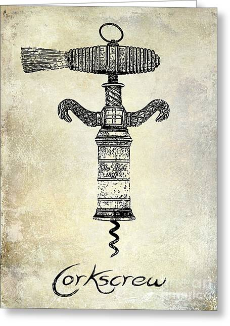 Napa Valley Vineyard Greeting Cards - The Corkscrew Greeting Card by Jon Neidert