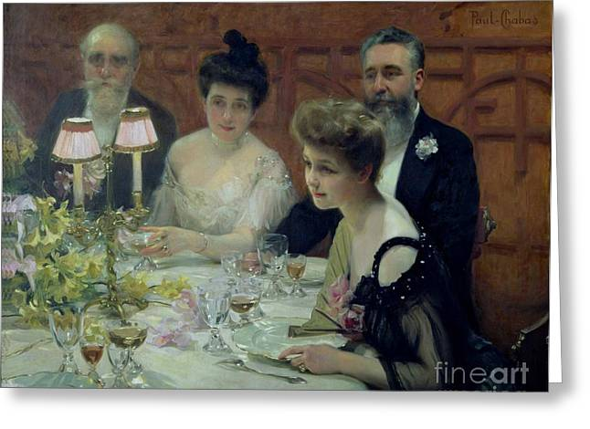 The Corner of the Table Greeting Card by Paul Chabas
