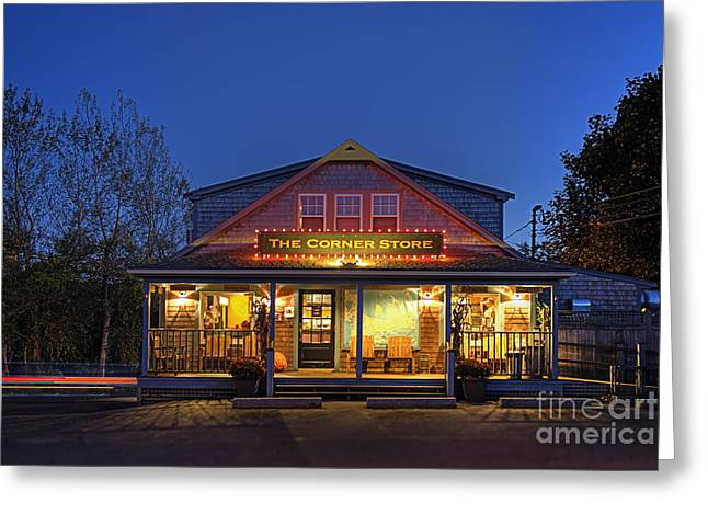 The Corner Store  Greeting Card by John Greim