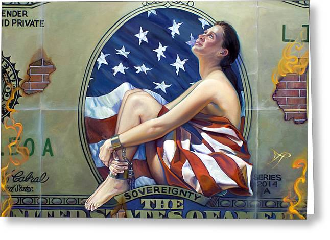 The Cost Of Freedom Greeting Card by Patrick Anthony Pierson