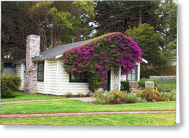 The Honeymoon Cottage At Mission Ranch Greeting Card by Glenn McCarthy