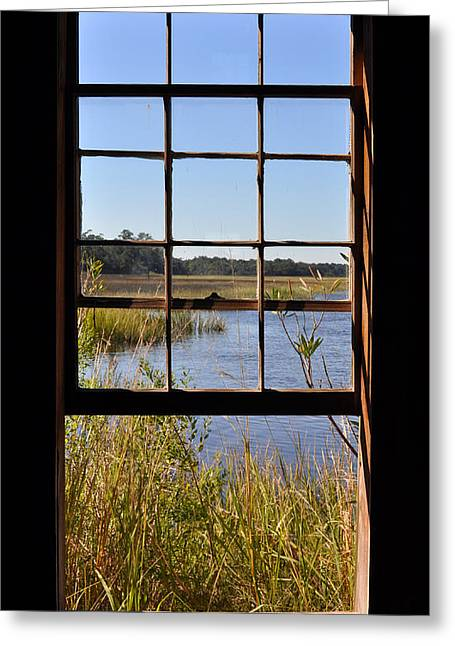 Boone Hall Greeting Cards - The Cotton Dock Greeting Card by Melissa Wyatt