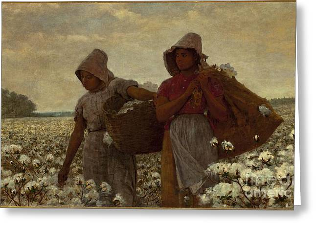 The Cotton Pickers Greeting Cards - The Cotton Pickers Greeting Card by MotionAge Designs
