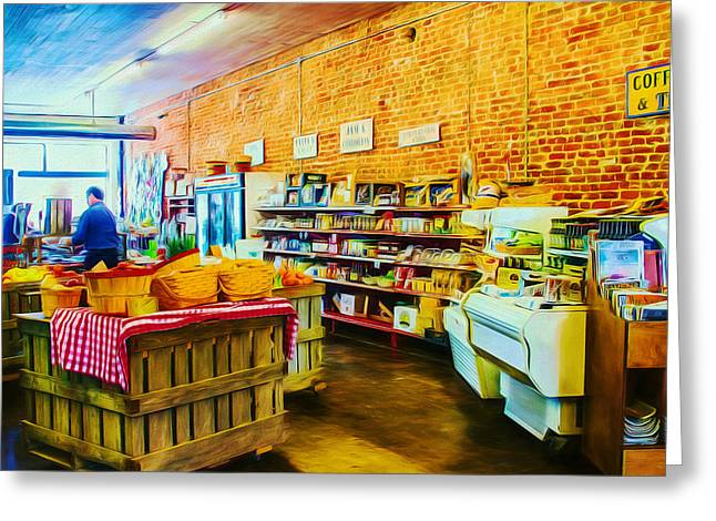 Grocery Store Greeting Cards - The Country Market Greeting Card by Barry Jones