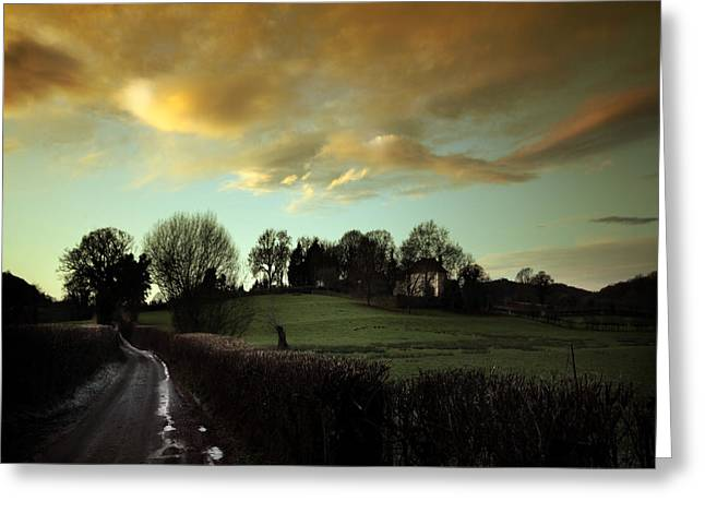 Country Cottage Greeting Cards - The Country Road Greeting Card by Angel  Tarantella