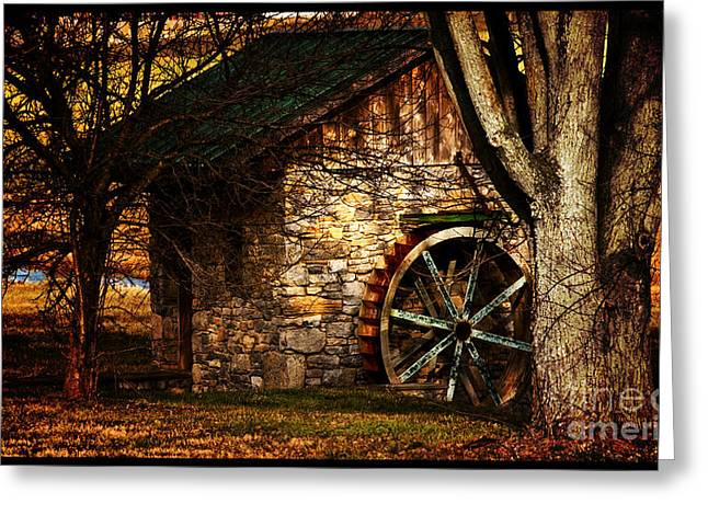 Stone House Greeting Cards - The Country Spring House Greeting Card by Steven  Digman