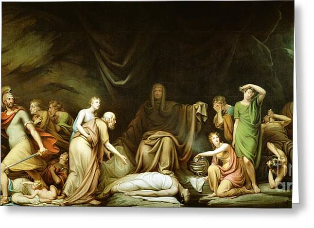 The Court of Death Greeting Card by Rembrandt Peale