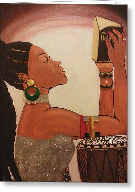 African-american Greeting Cards - The covenant Greeting Card by Dishonka Green