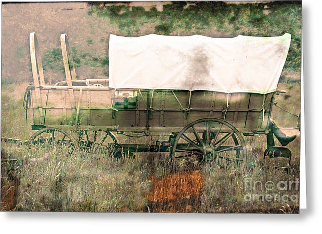 Wagon Digital Art Greeting Cards - The Covered Wagon  Greeting Card by Steven  Digman