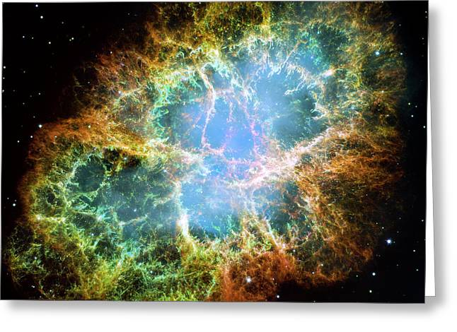 Crab Nebula Greeting Cards - The Crab Nebula Greeting Card by Nicholas Burningham