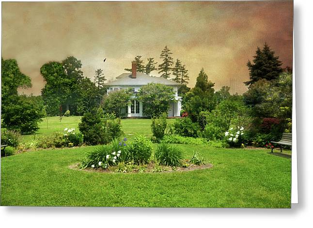 The Crawford Park Mansion Greeting Card by Diana Angstadt