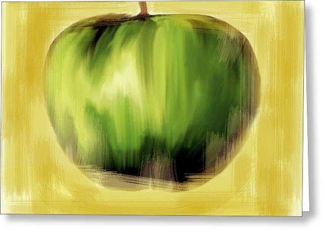 Apple Art Greeting Cards - The Creative Apple  Greeting Card by Iconic Images Art Gallery David Pucciarelli