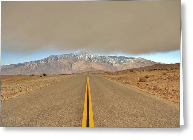 Mountain Road Greeting Cards - The Creeping Greeting Card by Daniel Edwards