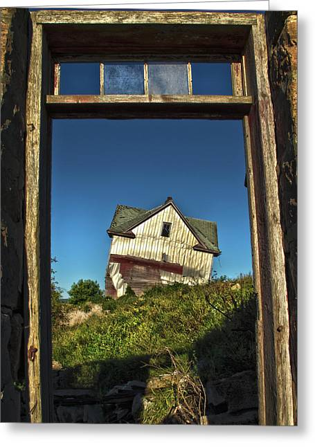 Abandoned House Greeting Cards - The Crooked House Greeting Card by Phil Koch